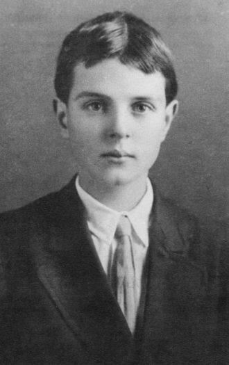 Thornton Wilder at the age of nine or ten, Berkeley, California, circa 1906–1907