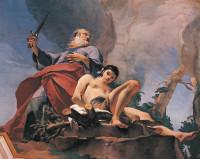Giovanni Battista Tiepolo: The Sacrifice of Isaac (detail), 1726–1739