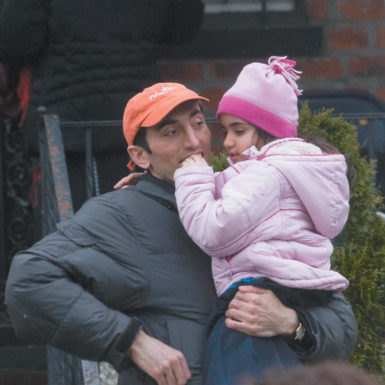 Gavriel Malakov with his niece, Michelle Malakova, Queens, March 2009. She was assigned to live with his family some months after her mother was arrested for murder.