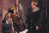 Laurence Olivier as Richard III and Ralph Richardson as the Duke of Buckingham in Olivier's Richard III, 1955