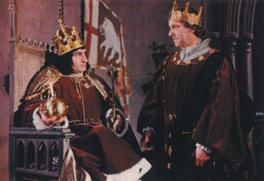Laurence Olivier as Richard III and Ralph Richardson as the Duke of Buckingham in Olivier's Richard III, 1955