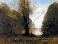 Jean-Baptiste-Camille Corot: Solitude, Recollection of Vigen, Limousin, 1866