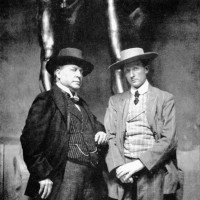 Henry James and the sculptor Hendrik Andersen in Andersen's studio, Rome, 1907