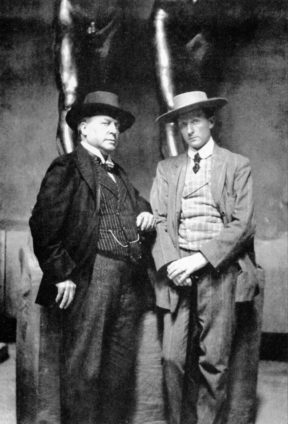 Henry James and the sculptor Hendrik Andersen in Andersen's studio, Rome, 1907