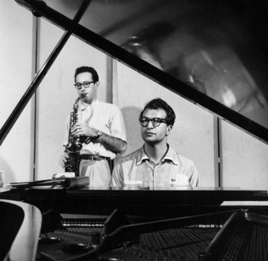 Dave Brubeck (right) and Paul Desmond in the 1940s