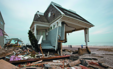 The remains of a house destroyed by Hurricane Sandy, Rockaway, New York, November 10