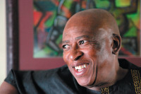 Zakes Mda at his house in Athens, Ohio, 2010