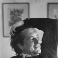 William Styron at his house in Roxbury, Connecticut, January 1972
