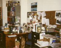 An assistant editor's desk at the New York Review in the mid-1990s