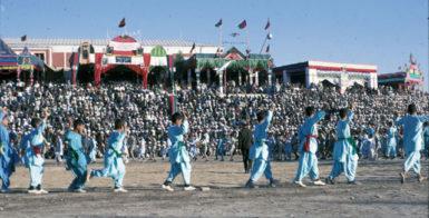 Boys dancing the attan, Maymana, Afghanistan, 1969