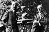 Rainer Maria Rilke with Paul Valéry in Anthy, Switzerland, September 1926. In the background is Henri Vallette's bust of Valéry.