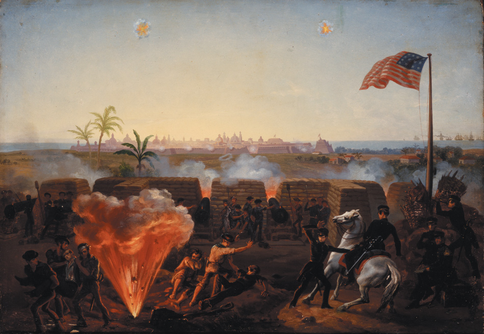 The twenty-day siege of the Mexican city of Veracruz in March 1847; painting by William Henry Powell, 1867