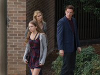 Morgan Saylor as Dana Brody, Claire Danes as Carrie Mathison, and Damian Lewis as Nicholas Brody in <i>Homeland</i>