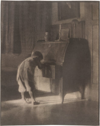 Heinrich Kühn: Hans with Bureau, 1905; from Heinrich Kühn: The Perfect Photograph, the catalog of a recent exhibition organized by the Albertina, Vienna. Now out of print, it was edited by Monika Faber and Astrid Mahler and published by Hatje Cantz.
