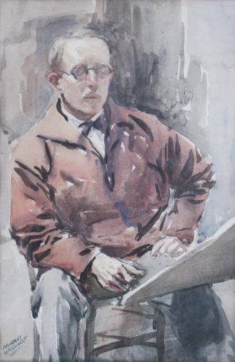 Self-portrait by Murray Urquhart, circa 1930