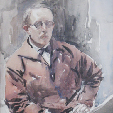 Self-portrait by Murray Urquhart, circa 1930