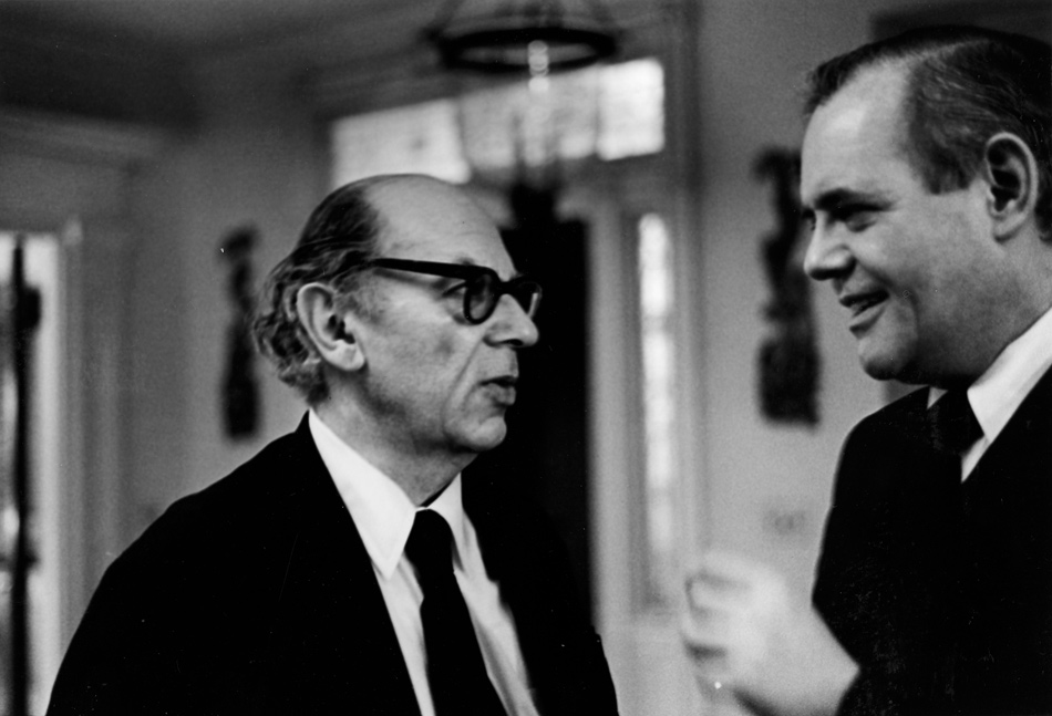 Isaiah Berlin and New York Review editor Robert Silvers, New York City, 1982