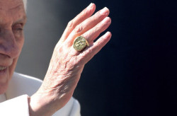 Pope Benedict XVI after his final general audience, St. Peter's Square, February 27, 2013