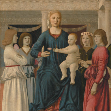 Piero della Francesca: Virgin and Child Enthroned with Four Angels, 1460–1470