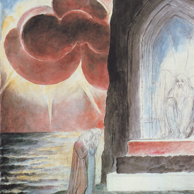 William Blake: Dante and Virgil Approaching the Angel Who Guards the Entrance of Purgatory, 1824–1827