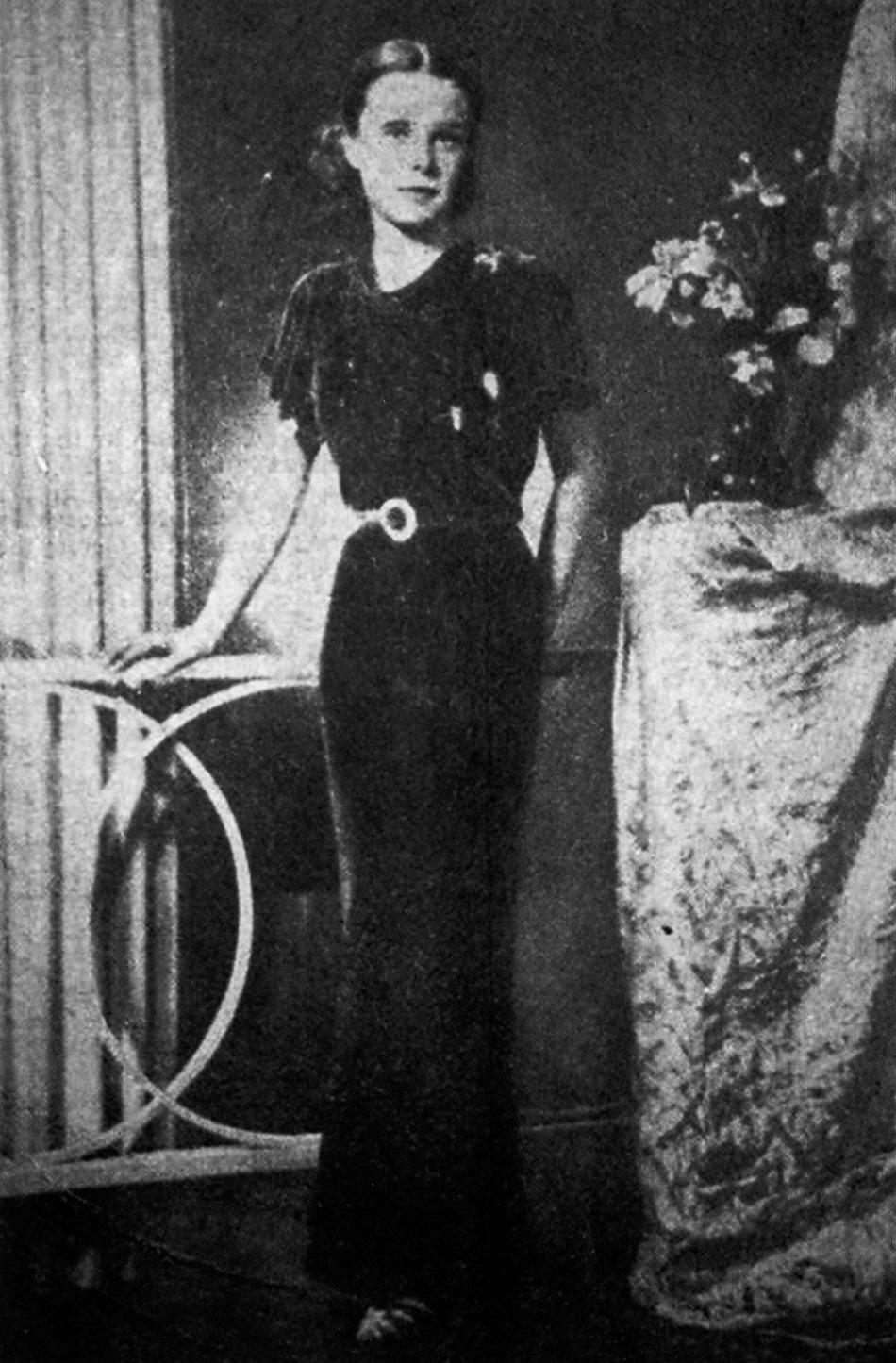 A studio portrait of Pamela Werner, who was murdered in Peking in 1937