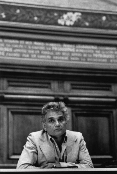 Jacques Derrida at the Sorbonne, June, 1979