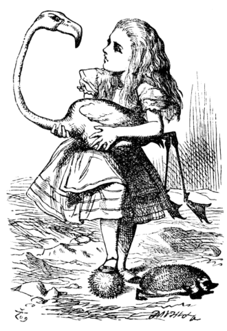 An illustration by John Tenniel from Lewis Carroll's Alice in Wonderland