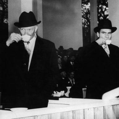 President Dwight D. Eisenhower and Vice President Richard Nixon, New York City, 1957