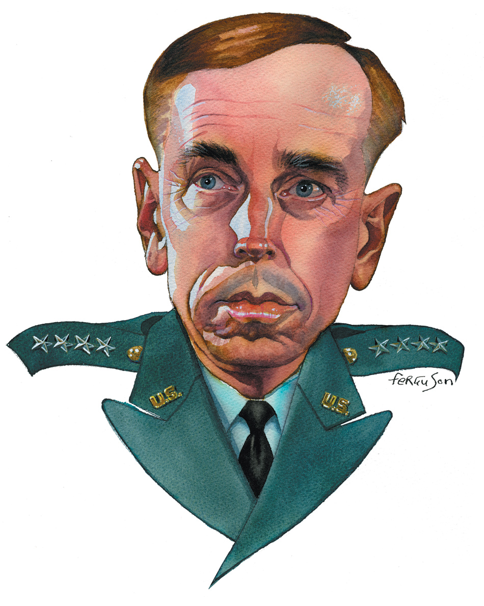 journalist writing about petraeus david
