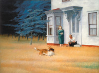 Edward Hopper: Cape Cod Evening, 1939; from Hopper, the catalog of a recent exhibition at the Museo Thyssen-Bornemisza in Madrid and the Grand Palais in Paris. Edited by Tomàs Llorens and Didier Ottinger, it has just been published by D.A.P. and the Réunion des Musées Nationaux–Grand Palais.
