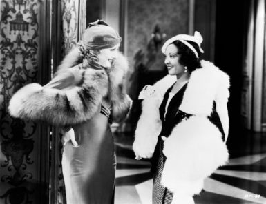 Barbara Stanwyck as Lily Powers and Theresa Harris as Chico in Alfred E. Green's Baby Face, 1933