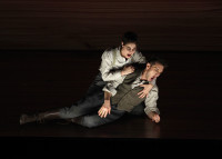 Ana Quintans as Jonathas and Pascal Charbonneau as David in Charpentier's David et Jonathas