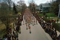 Start of the 79th Boston Marathon, Hopkinton, Massachusetts, April 1975