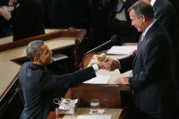 President Barack Obama and Speaker of the House John Boehner, February 12, 2013