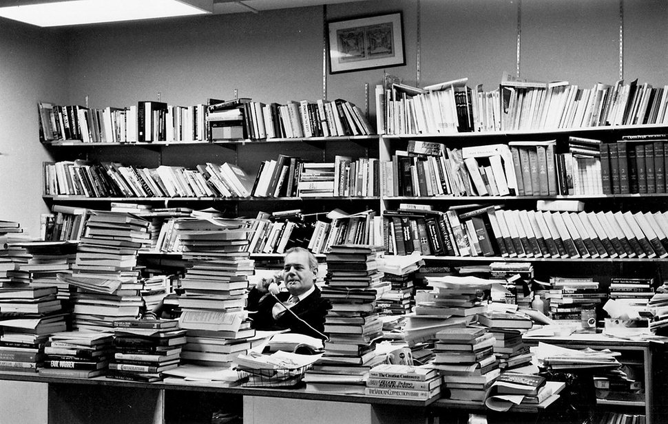 Editor Robert Silvers in the offices of The New York Review in the early 1980s