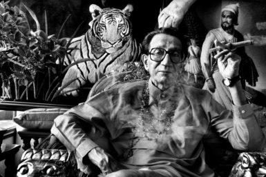 Bal Thackeray, founder of the Hindu nationalist party Shiv Sena, Mumbai, 2010