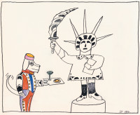 Drawing by Saul Steinberg