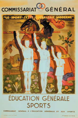 A Vichy government propaganda poster by J.A. Mercier, 1941
