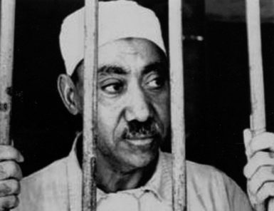 Sayyid Qutb in prison in Egypt, where he was executed in 1966
