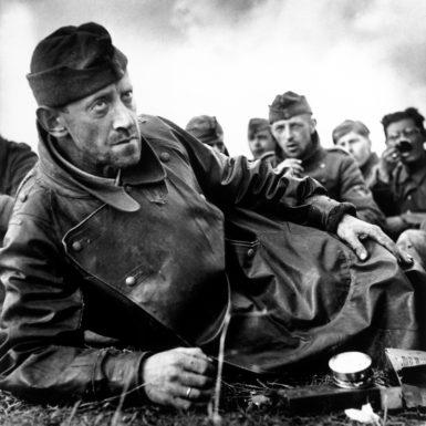German soldiers captured by American forces, Saint-Laurent-sur-Mer, France, June 1944
