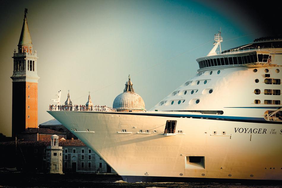 A cruise ship in front of San Giorgio Maggiore, Venice, August 2011