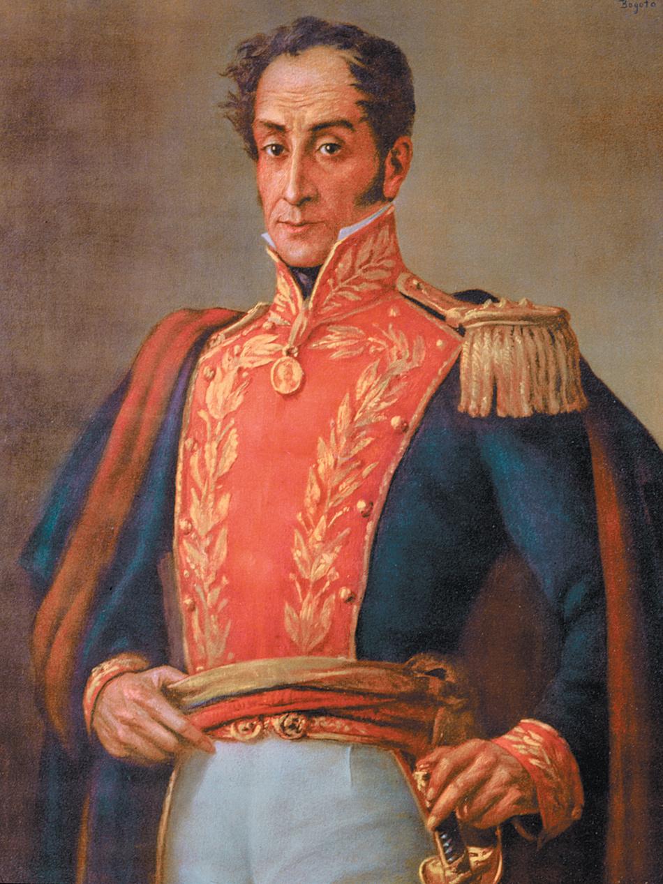 Simón Bolívar; nineteenth-century chromolithograph