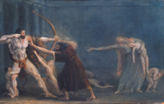 Antonio Canova: Hercules Firing Arrows at His Children, 1799