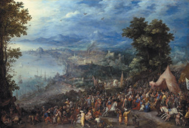 Jan Brueghel the Elder: View of a Seaport with the Temperance of Scipio, 1600.