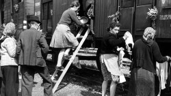 Sudeten Germans being expelled from Czechoslovakia, 1945