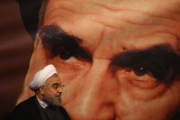 Iran's president-elect Hassan Rouhani campaigning in Tehran, June 1, 2013