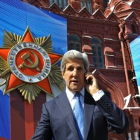 US Secretary of State John Kerry in Moscow's Red Square, May 7, 2013