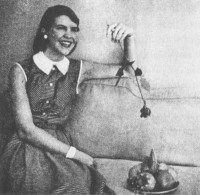 Sylvia Plath on her first day at Mademoiselle, 1953