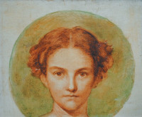 Janet Ross painted by G.F. Watts when she was sixteen years old
