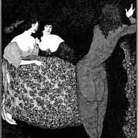 'A Repetition of Tristan und Isolde'; drawing by Aubrey Beardsley